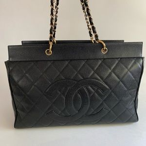 Chanel XXL Grand Shoping Tote GST Travel Work Bag